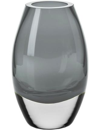 Uovo Vase 17.5cm Smoke Gift Boxed