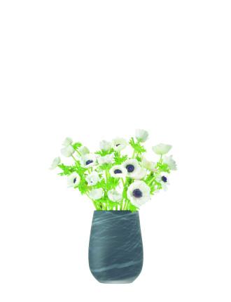 Silk Vase 23cm White