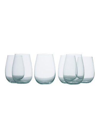 Mansion Stemless White Wine Set Of 6