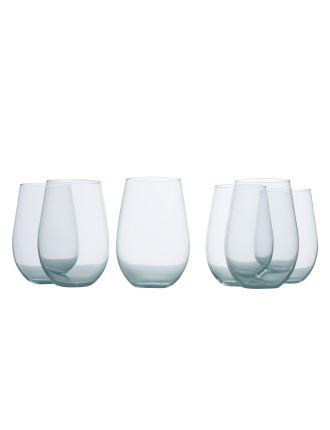 Mansion Stemless Red Wine Set Of 6