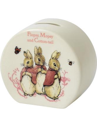 Flopsy, Mopsy & Cotton-Tail Money Box
