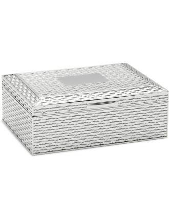 Basket Weave Jewellery Box