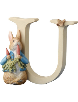 Alphabet Letter U - Peter Rabbit With Radishes