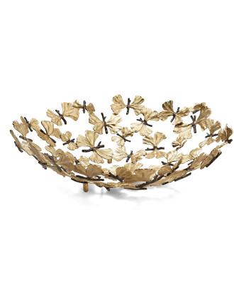 Butterfly Gingko Centerpiece Bowl
