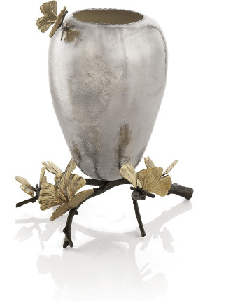 Butterfly Gingko Vase
