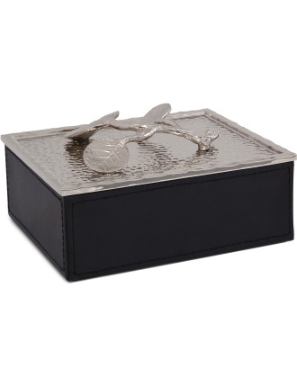 Botanical Leaf Jewelry Box