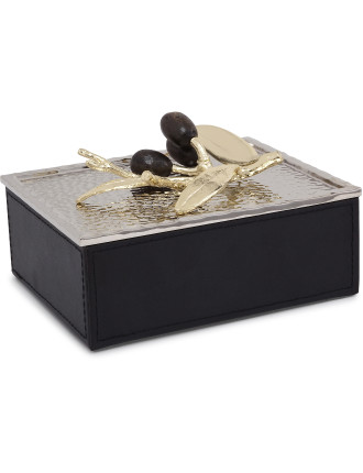 Olive Branch Jewelry Box (Gold)
