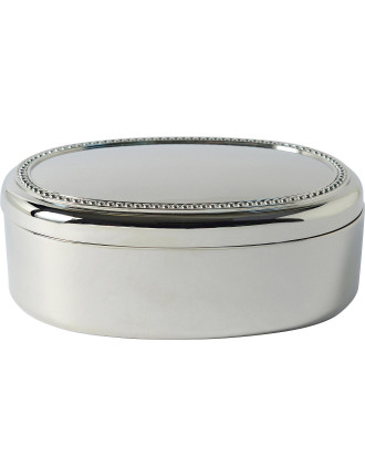 Bead Oval Jewellery Box