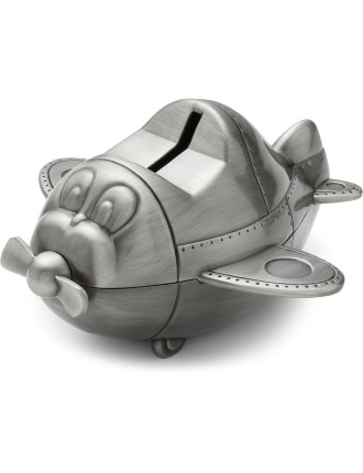 Pewter Money Box Plane
