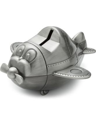 Pewter Money Box Plane