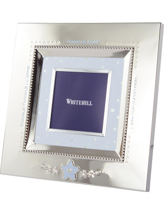 BabySquare Photoframe Blue Star