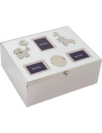 Baby Photo Box with Engraving Plaque