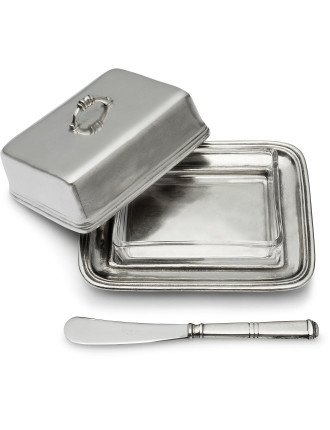 3-piece Covered Butter Dish with Spreader