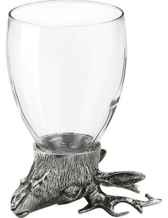Deer Glass Tumbler 13cm