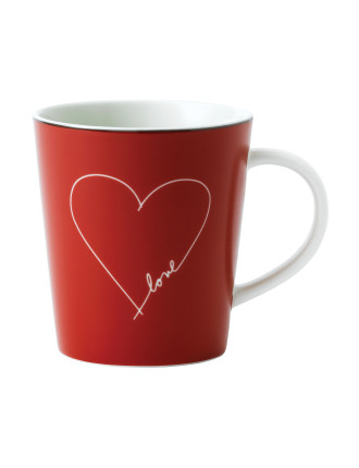 ED Red Heart Mug