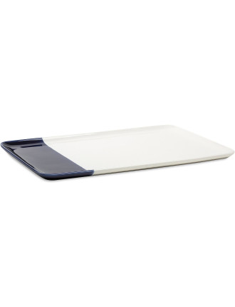 Staples Rectangle Platter Indigo 40x26x1.5cm