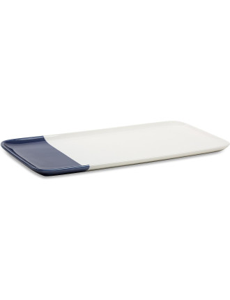 Staples Rectangle Platter Indigo 35x18x1.5cm