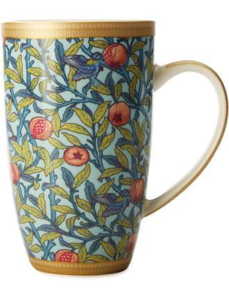 William Morris Bird &  Pomegranate Coupe Mug 420ml Gb