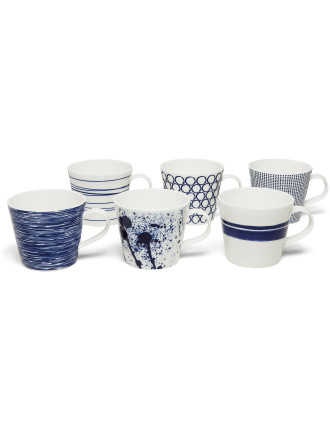 Pacific Mugs Set Of 6
