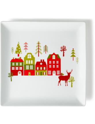 Festive Forest Square Platter 30cm