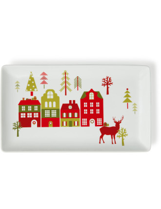 Festive Forest Rectangular Platter 31x18.5cm