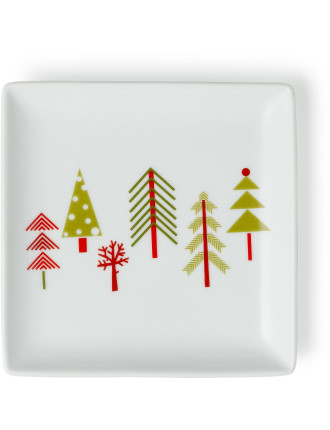 Festive Forest Square Plate