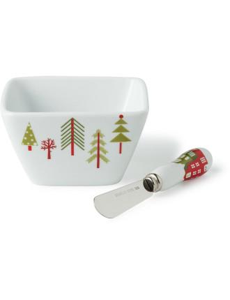 Festive Forest Dip Bowl & Spreader