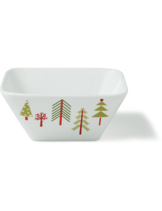 Festive Forest Square Bowl