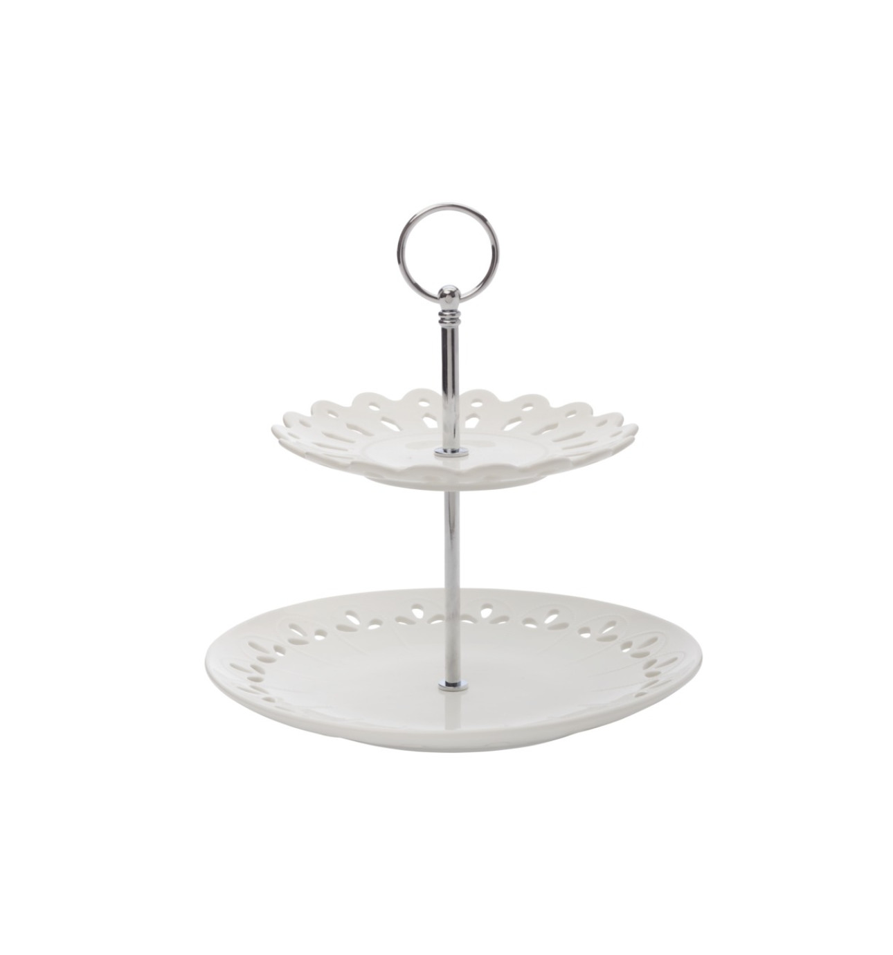 2 tiered cake stand