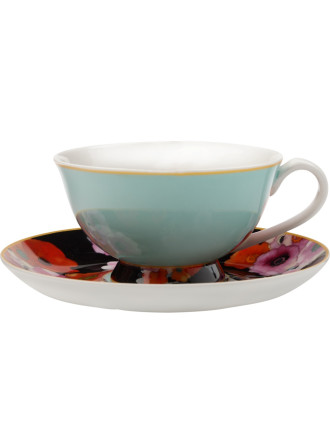 Cashmere Bloems Tea Cup & Saucer