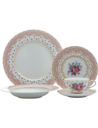 Kensington Palace Rose 5 Piece Place Setting