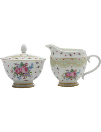 Kensington Palace Rose Sugar & Creamer Set