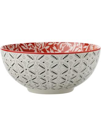Boho Bowl Damask Red 12.5cm