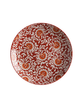 Boho Plate Damask Red 27cm