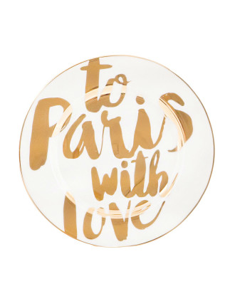 To Paris With Love Side Plate