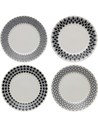 Charlene Mullen Accent Plate Set of 4
