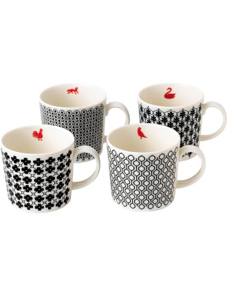 Charlene Mullen Accent Mug Set of 4