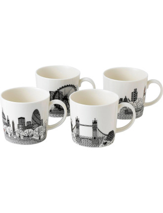 Charlene Mullen London Calling Mug Set of 4