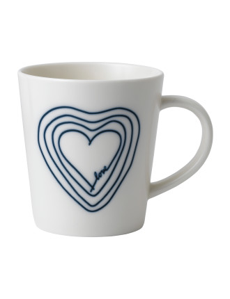 ED Blue Heart Mug