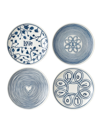 ED Blue Love Plates Set 4