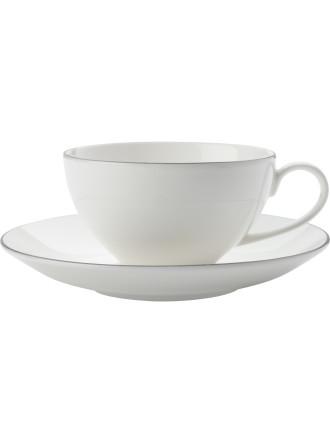 White Basics Edge Cup & Saucer