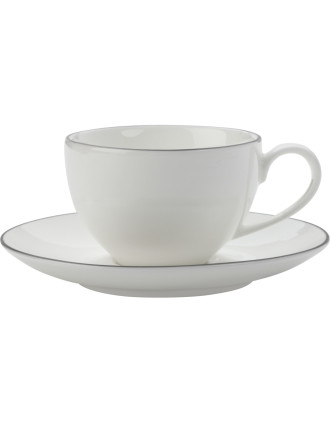 White Basics Edge Demi Cup & Saucer