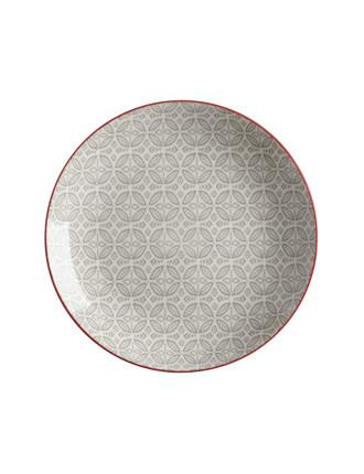 Boho Plate Batik Grey 27cm