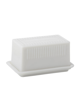 Heritage Milky Glass Butter Dish