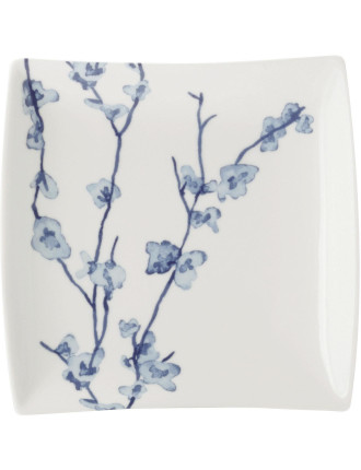 Oriental Blossom Square Plate 13cm