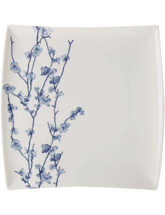 Oriental Blossom Square Entree Plate 23cm