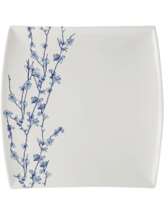 Oriental Blossom Square Platter 30cm