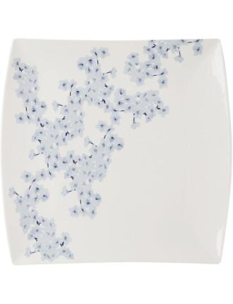 Oriental Blossom Square Platter 36cm