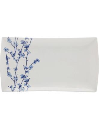 Oriental Blossom Rectangular Platter 30x17cm