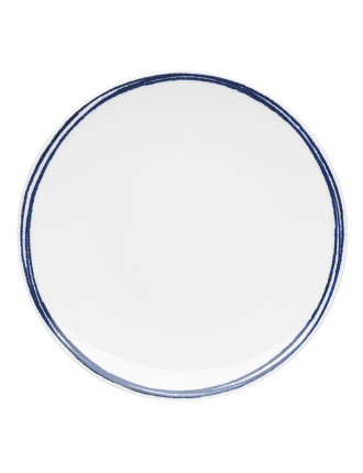 Shibori Blue Rim Dinner Plate 28cm